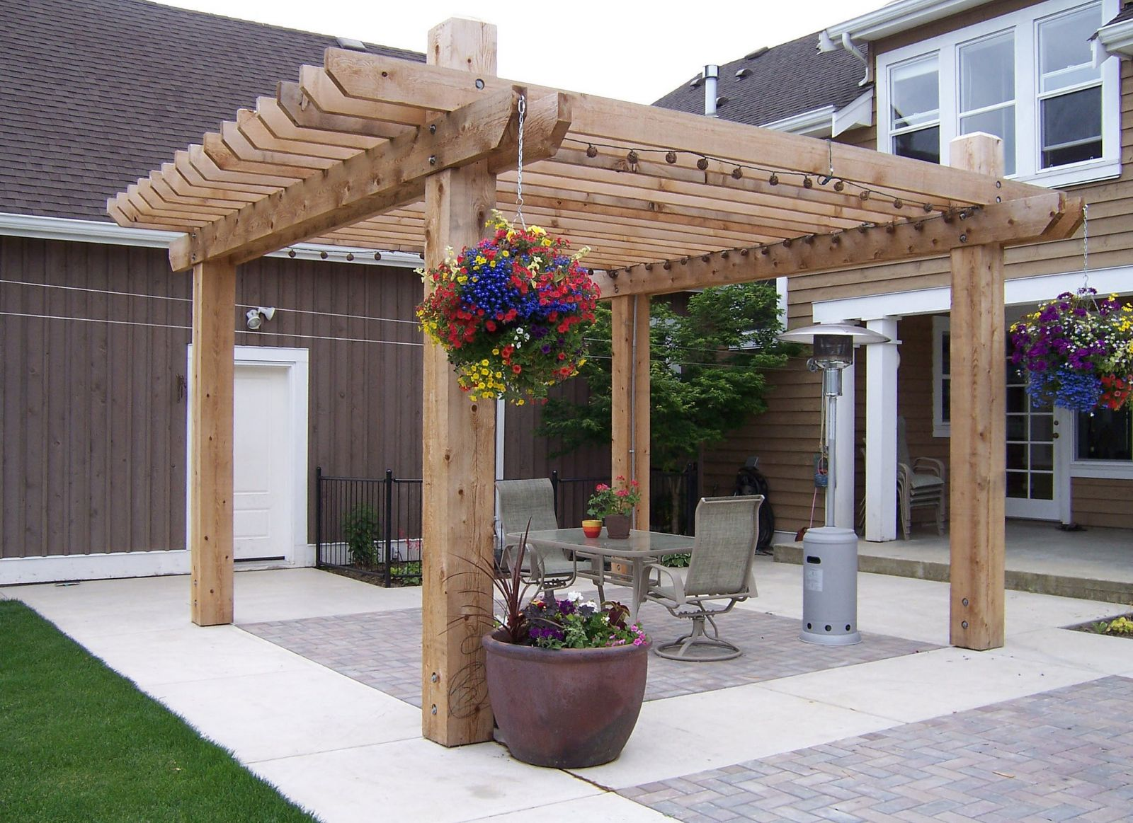 Arbour on a patio in the Fraser Valley