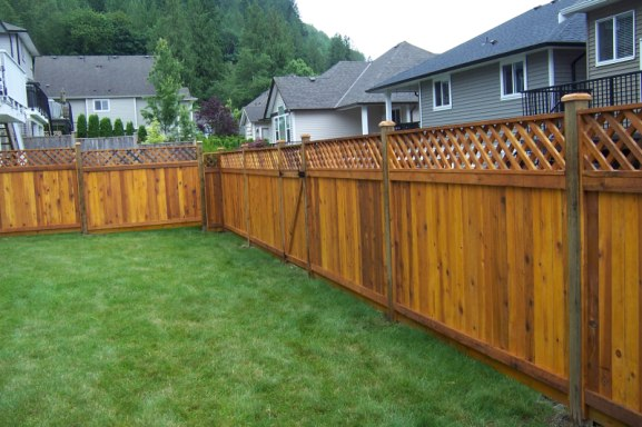 Five most popular types of wood fences