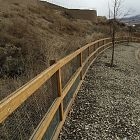3 Rail Farm Fence w/ Mesh