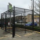 12' Black Chain-link Enclosure