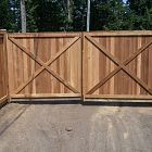6' Flat Top Double Swing Gate