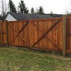 8' Double Swing Gate Stained