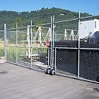 8' Galv Double Swing Gate