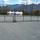 6' Black Roll/Swing Gate