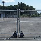 6' Galv Double Rolling Gate