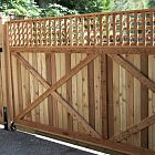 6' Lattice Top Rolling Gate
