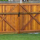 6' Flat Top Double Gate Stain